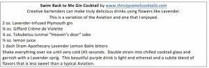 7.Swim gin Cocktail
