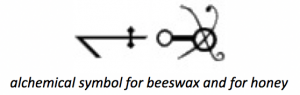 alchemical-symbol-for-honey-beeswax